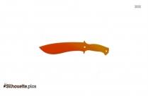 Knife Emoji Silhouette Illustration