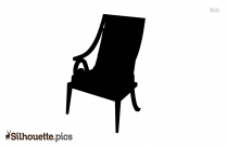 Comfortable Wooden Chair Silhouette