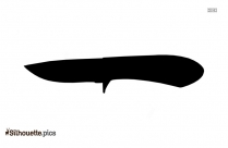 Knife Silhouette Drawing
