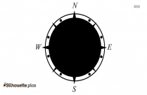 Compass Map Silhouette