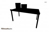 Computer Desk Silhouette Image