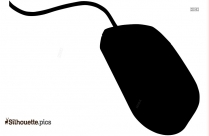 Computer Mouse With Cable Silhouette