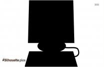 Computer Silhouette Vector