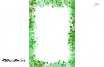 Flower Frame Silhouette Clipart
