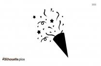 Cartoon Confetti Silhouette Art