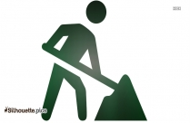 Construction Icon Silhouette Image
