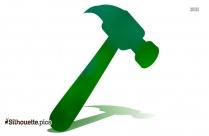 Wooden Hammer Silhouette Free Vector Art