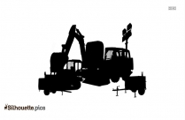 Construction Vehicle Silhouette Art