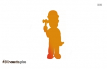 Construction Worker Silhouette Clipart  Image