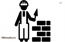 Civil Engineer Clipart Vector Silhouette Image
