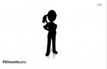 Cartoon Construction Worker Silhouette
