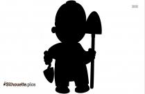 Wheelbarrow Silhouette Free Clipart