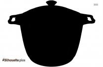 Cartoon Bowl Silhouette Free Vector Art