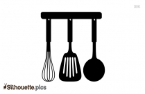 Cooking Spoon Silhouette Image