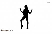 Dance Kick Silhouette Image And Vector