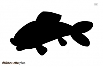 Cool Fish Drawing Silhouette Icon