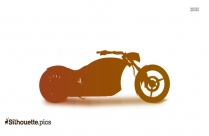 Cool Motor Bike Vector Silhouette