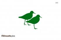 Coorong Birdwatcher Vector Clipart Silhouette