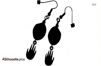 Rock Earrings Silhouette Picture, Vector