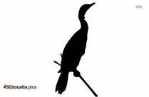 Cute Duckling Silhouette Image