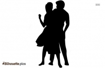 Couple Dancing Drawing Silhouette Pic