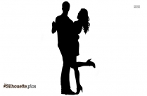 Couple Dancing Silhouette Art