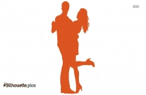 Couple Dancing Silhouette Clipart