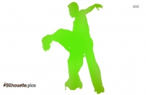 Couple Dancing Silhouette Picture, Clipart