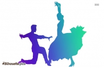 Couple Dancing Silhouette Picture For Free