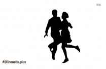Couple Dancing Silhouette Vector Illustration