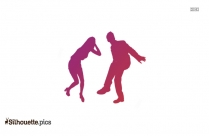 Couple Drunken Dance Silhouette Vector And Graphics