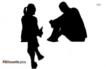 Couple Family Silhouette Free Vector Art