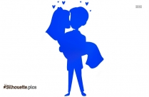Couple In Love Silhouette Drawing