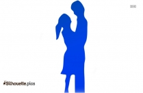 Couple In Love Silhouette Image