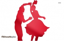 Couple Jive Dancing Clipart