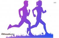 Male Jogging Silhouette Image