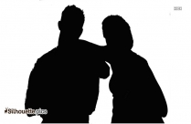 Couple Ready To Go Silhouette Picture