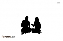 Sitting Couple Silhouette Transparent