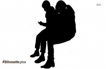 Man Sitting In Office Chair Silhouette