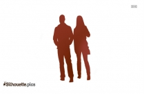 Couple Walking Silhouette Background