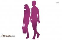 Couple Walking Silhouette Clip Art