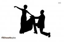 Ballroom Dance Silhouette Drawing Image
