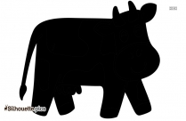 Happy Cartoon Cow Silhouette Vector And Graphics