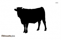Cartoon Cow Silhouette Free Vector Art