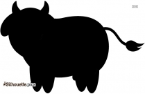Crazy Cow Drawing Silhouette Picture