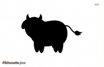 Cow Clipart Silhouette Background