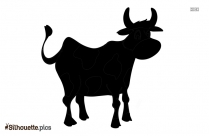 Funny Cute Cow Silhouette Clip Art
