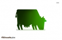 Cow Eating Grass Silhouette Clipart