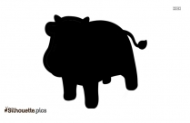 Cartoon Cow Silhouette Drawing