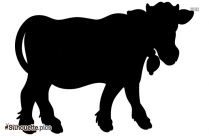Cow Silhouette Image And Vector, Cattle Clipart